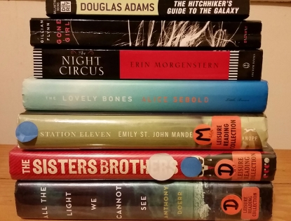 Some from the library. Most from a bookstore haul.